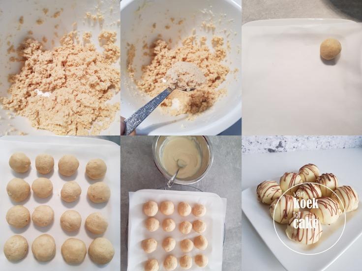 cake bonbons met witte chocolade