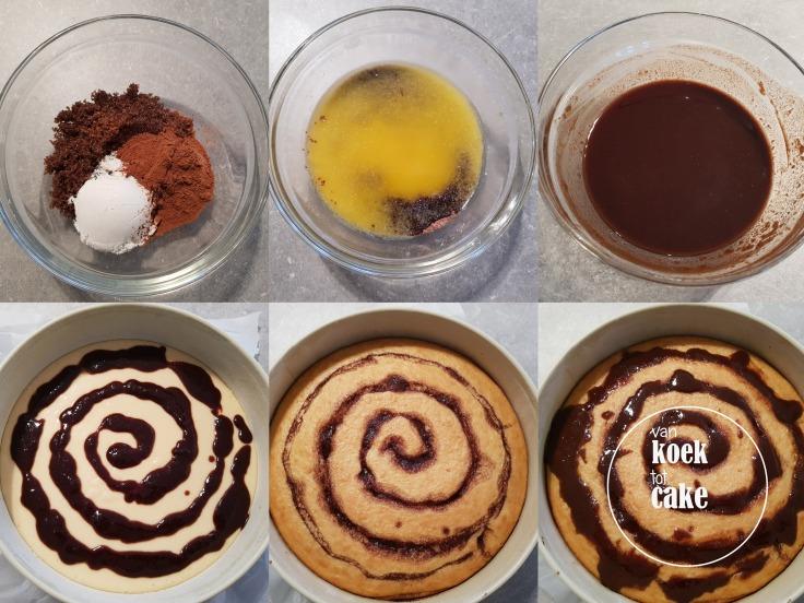 bereiding cinnamon roll cake