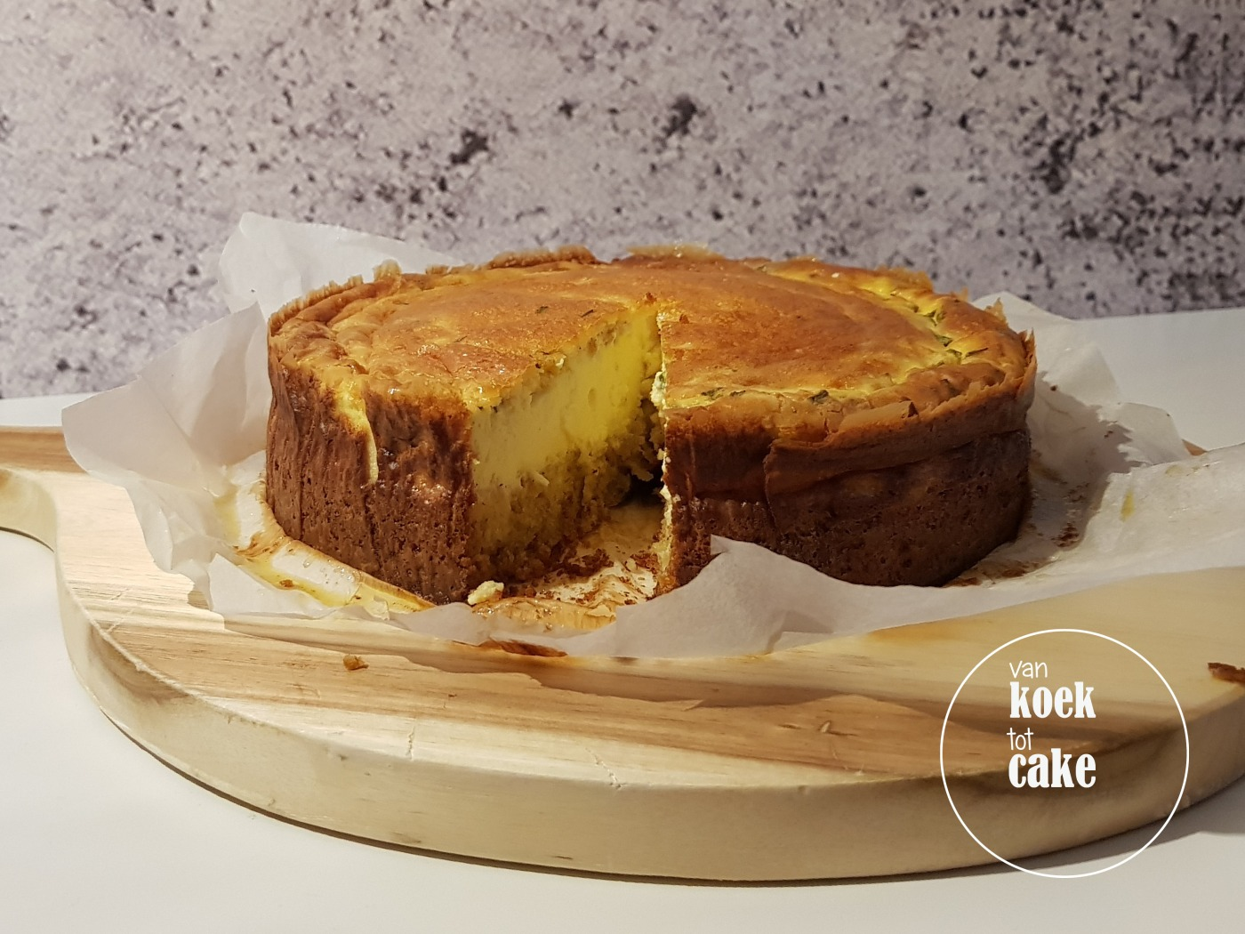 recept hartige cheesecake met knoflook