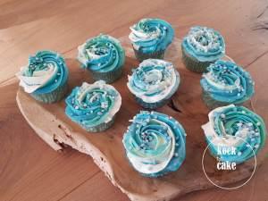 babyshower kraamfeest babyborrel cupcakes blauw jongen