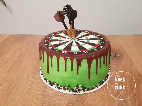 taart dartboard darten cake verjaardagstaart