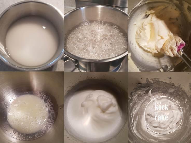 recept italiaanse meringue botercrème met kookschuim