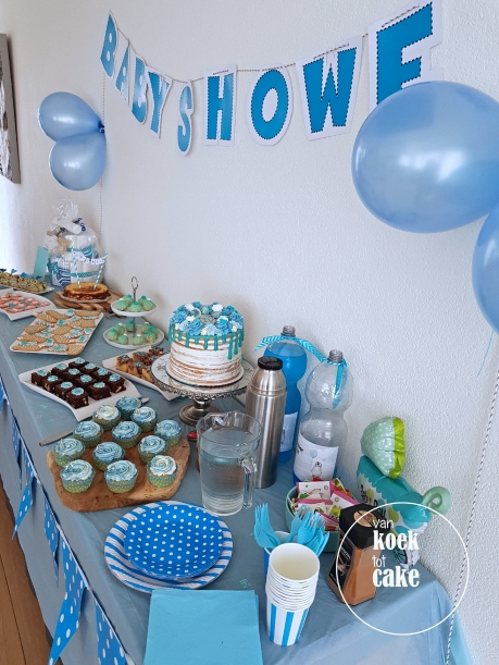 Babyshower inclusief versiering en bestek