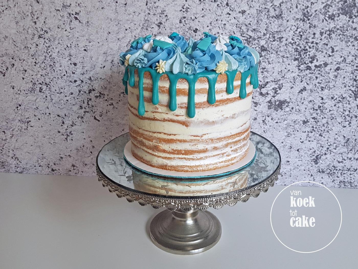 babyshower taart maken Nieuwe taart | Blauwe babyshower taart – van koek tot cake babyshower taart maken