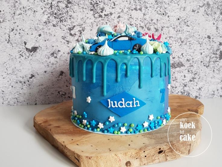 verjaardagstaart-blauw-jongen-auto-1