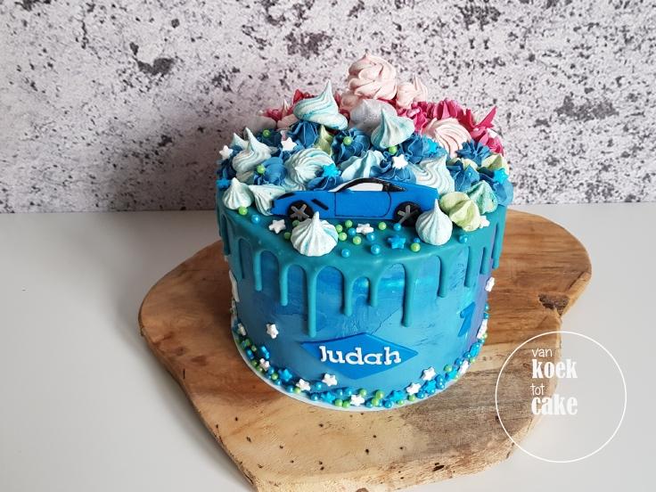 verjaardagstaart-blauw-jongen-auto-3