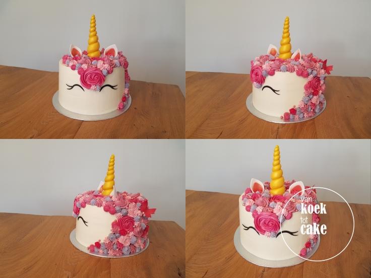 unicorn eenhoor taart - van koek tot cake - taart bestellen Middelburg