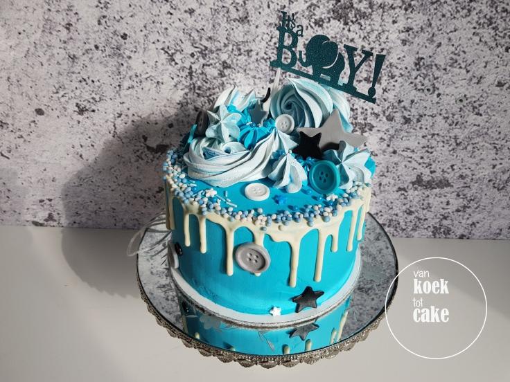 Babyshower taart geboorte jongen - van koek tot cake Middelburg