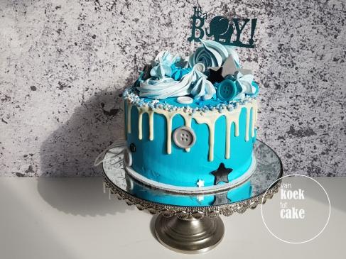 Taart babyshower jongen kraamfeest geboorte - van koek tot cake Middelburg
