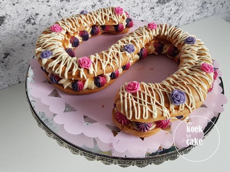 Letter eclair taart - van koek tot cake - Middelburg bestellen