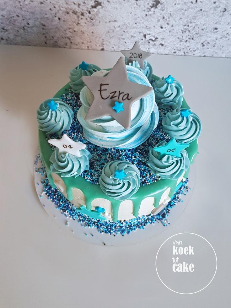 Taart bestellen babyshower kraamfeest babyborrel jongen - van koek tot cake Middelburg - Zeeland