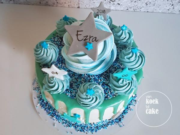 Taart babyshower kraamfeest babyborrel jongen - van koek tot cake Middelburg