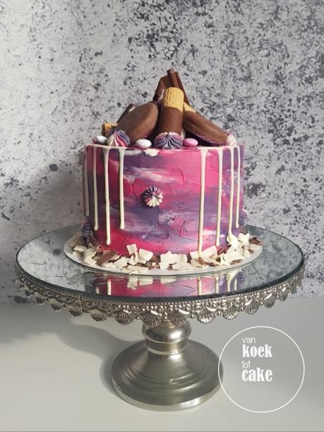 Taart vrijgezellenfeest ladiesnight piemeltaart dripcake piemel - van koek tot cake Middelburg