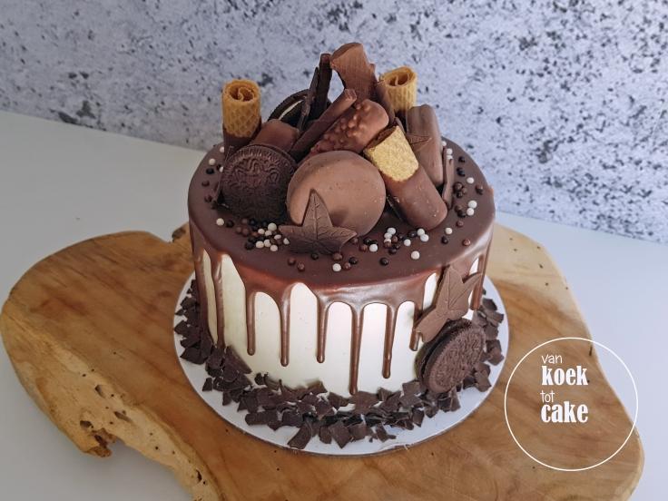 Chocoladetaart met chocoladerepen en nog meer chocolade - van koek tot cake Middelburg