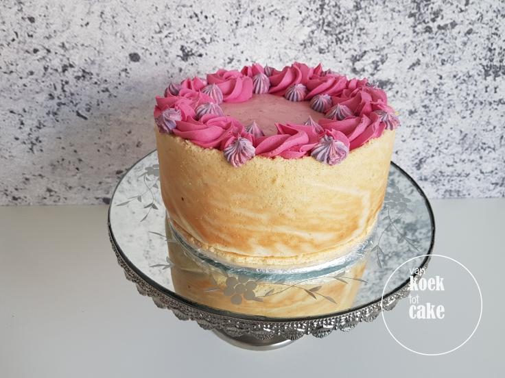 Frambozen framboos mousse taart met amandelbiscuit - van koek tot cake Middelburg