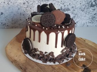 Oreotaart met oreo koekjes en drips van melkchocolade - van koek tot cake Middelburg