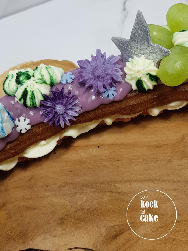 Eclair taart - traktatie gebak verjaardag - Bestellen van koek tot cake - Middelburg Vlissingen Oost-Souburg