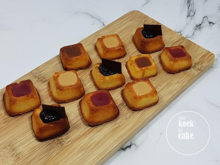 Recept voor simpele amandelcakejes met vulling naar wens - van koek tot cake