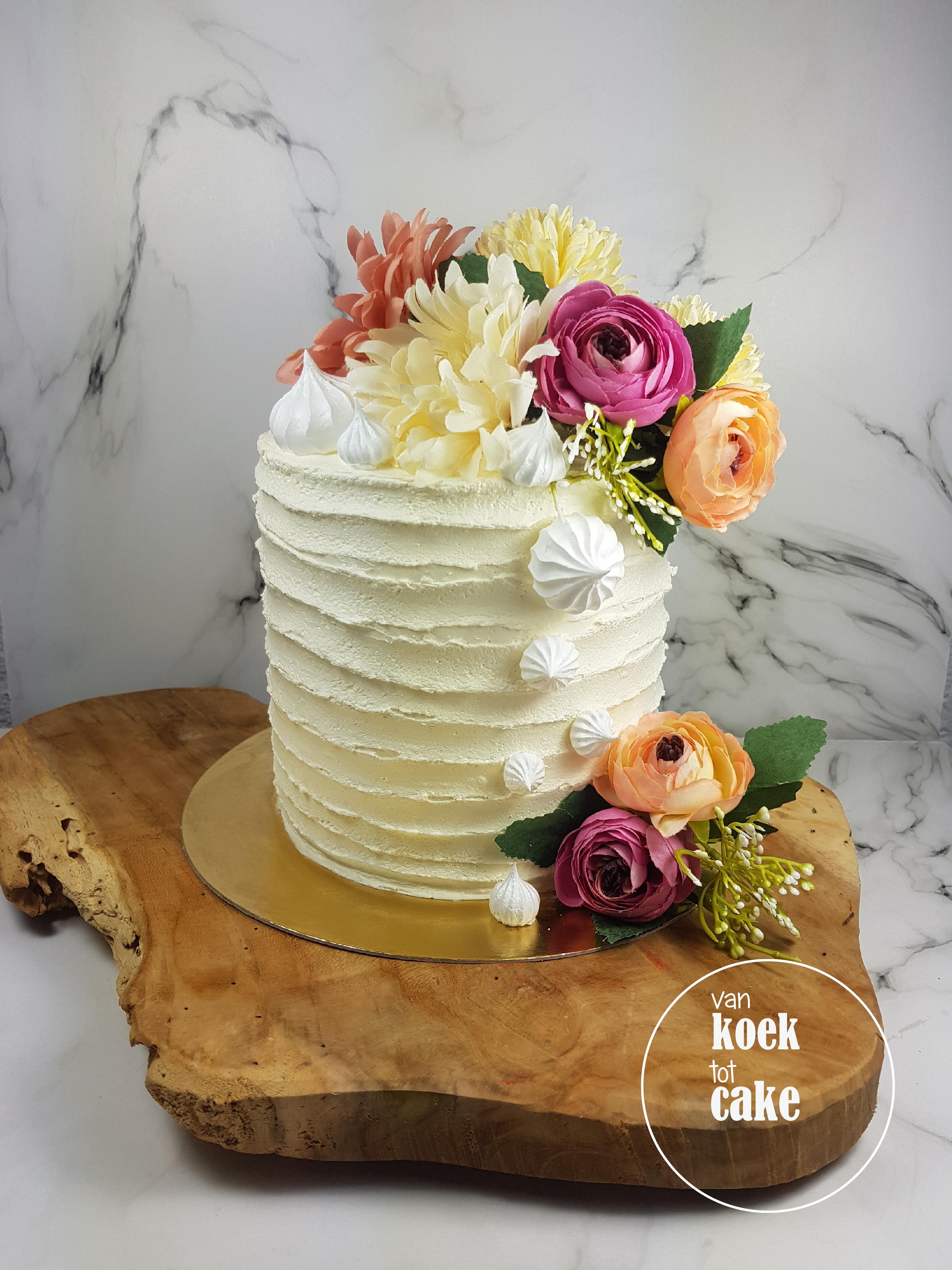 Verbazingwekkend TAART | Buttercream flower cake – van koek tot cake HP-61