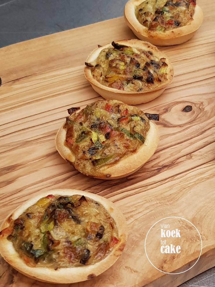 Recept vegetarische mini quiches - quiche van mals brooddeeg - van koek tot cake