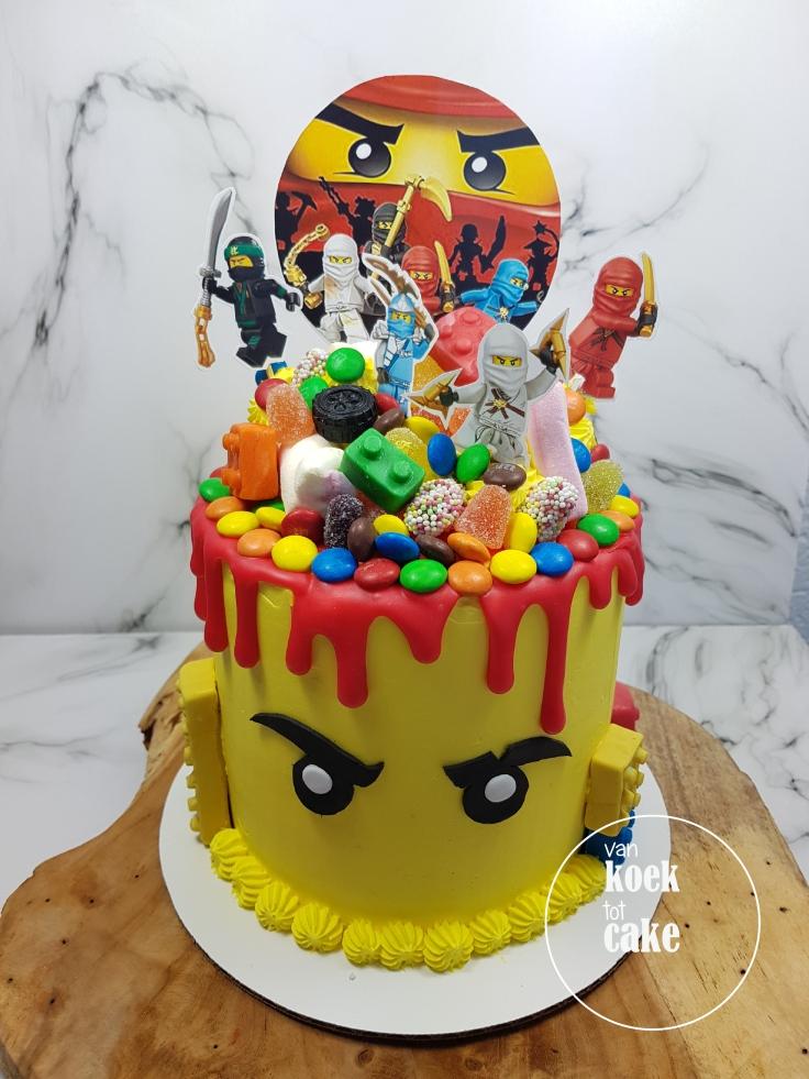 Ninjago Lego drip cake - verjaardagstaart bestellen Vlissingen Middelburg Oost-Souburg