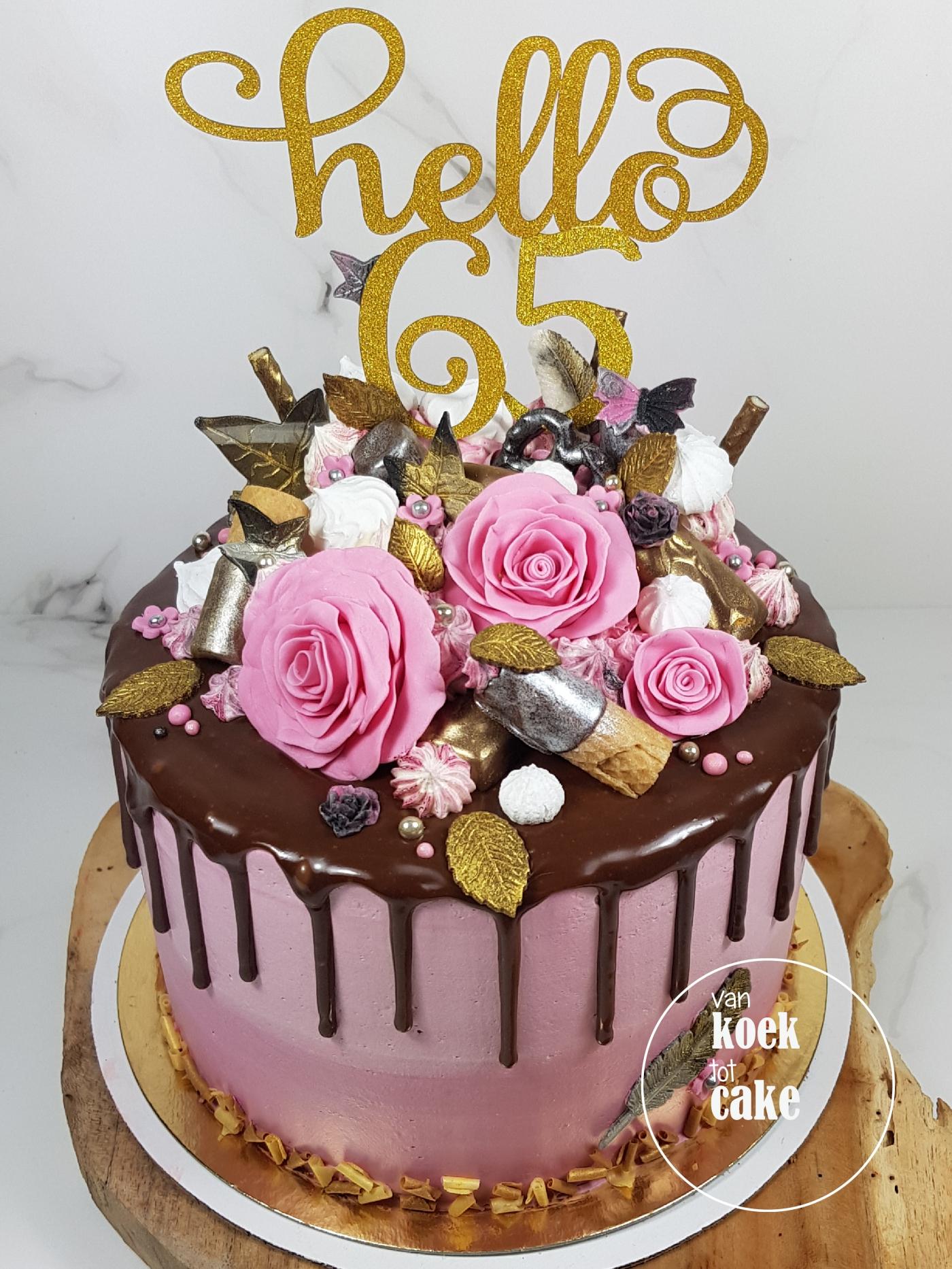 Verwonderlijk TAART | Drip cake Hello 65! – van koek tot cake TM-88