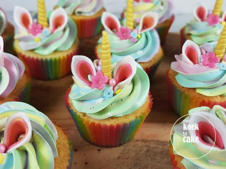 Unicorn cupcakes - van koek tot cake - traktatie verjaardag Bestellen Middelburg Vlissingen Oost-Souburg