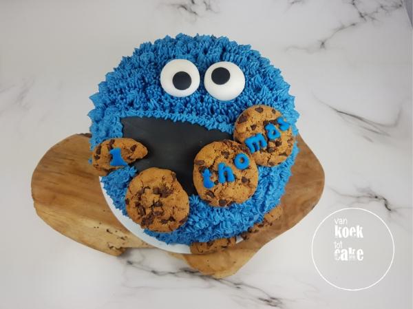 Koekiemonster taart Cookiemonster verjaardagstaart - bestellen Vlissingen Middelburg Oost-Souburg