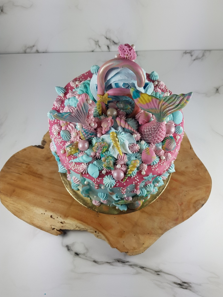 Zeemeerminnen mermaid verjaardagstaart | taart bestellen Zeeland Middelburg Vlissingen Oost-Souburg