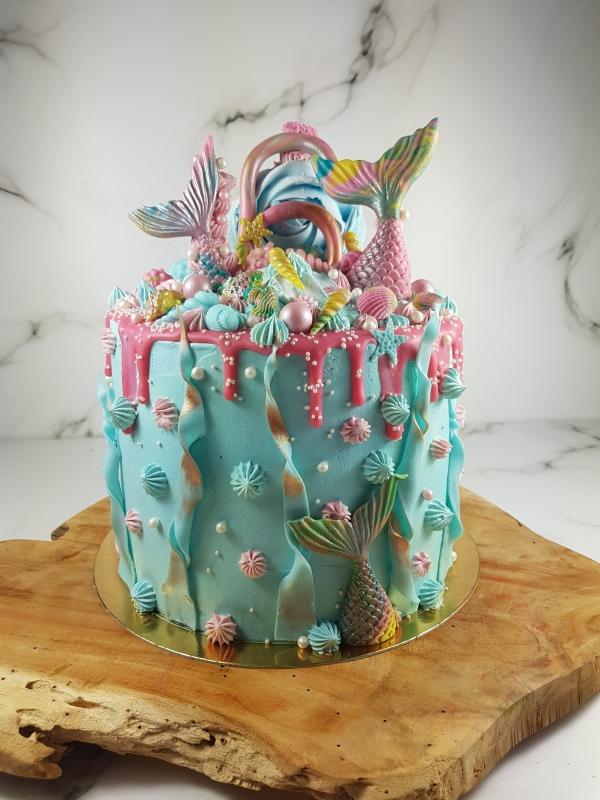 Zeemeermin mermaid verjaardagstaart | taart bestellen Zeeland Middelburg Vlissingen Oost-Souburg