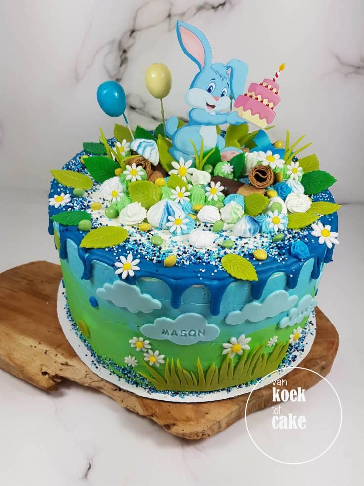 verjaardagstaart_jongen_1_jaar_konijntjes-haasjes(1)_vankoektotcake_bestellen_middelburg-vlissingen-oost-souburg