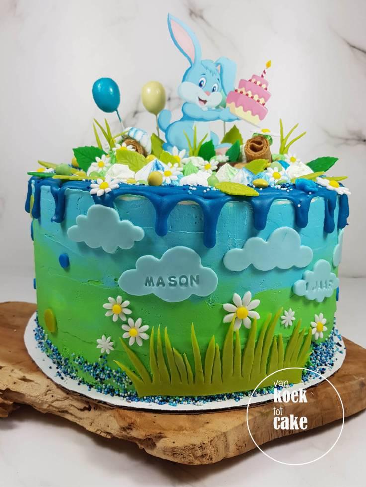 verjaardagstaart_jongen_1_jaar_konijntjes-haasjes(2)_vankoektotcake_bestellen_middelburg-vlissingen-oost-souburg