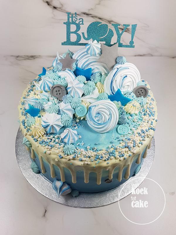 babyshower_geboorte_taart_its-a-boy_jongen_blauw_(1)van-koek-tot-cake