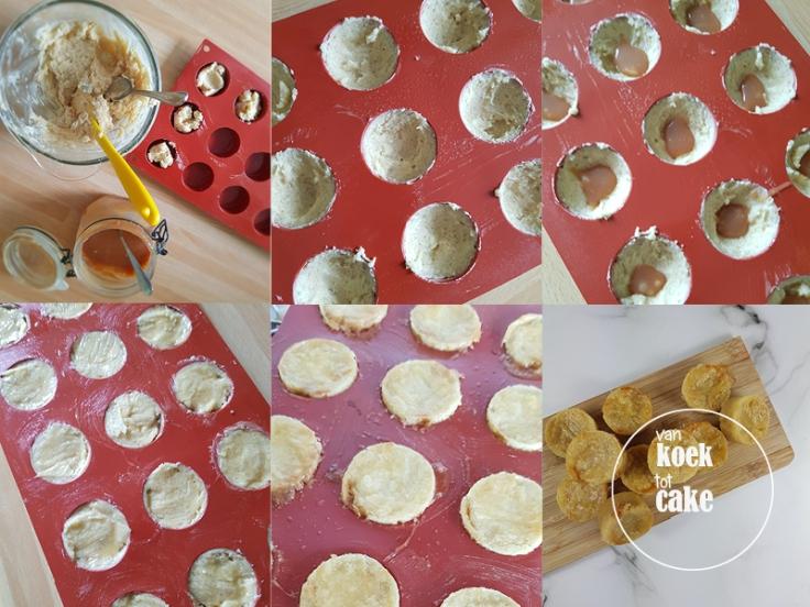 Recept mini boterkoekjes met witte chocolade en karamel - van koek tot cake - makkelijke recepten