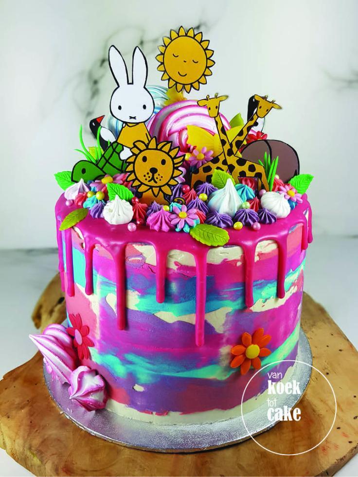 Nijntje verjaardagstaart dripcake | taart bestellen Vlissingen Middelburg Oost-Souburg | Zeeland - Walcheren