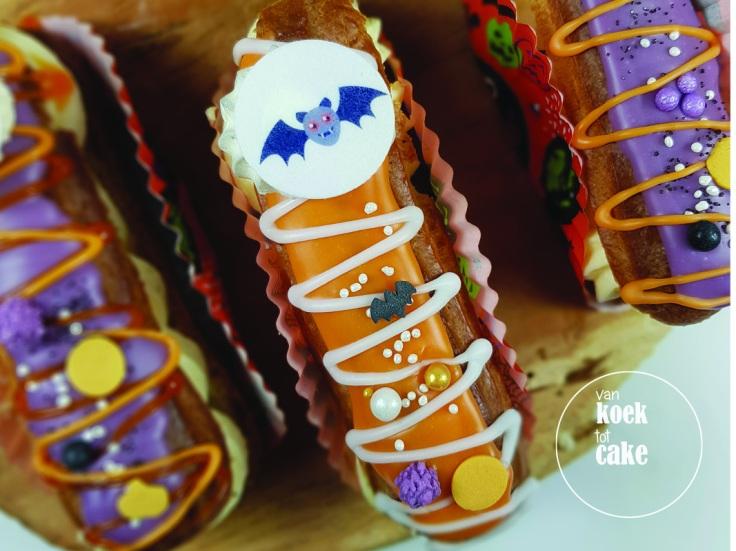 Halloween gebak, taart en eclairs | Zeeland, Walcheren, Middelburg Oost-Souburg Vlissingen | Bestellen van koek tot cake