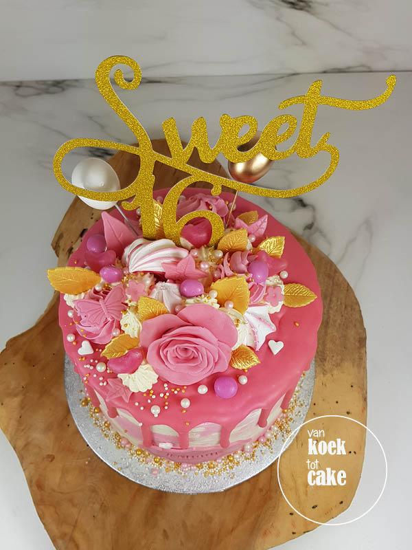 Hedendaags TAART | Sweet 16 verjaardagstaart – van koek tot cake JD-03