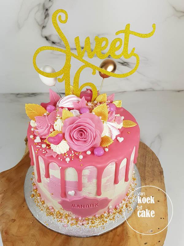 Verwonderend TAART | Sweet 16 verjaardagstaart – van koek tot cake HL-43