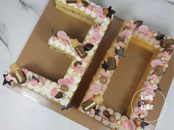 Cijfertaart 30 verjaardag - bestellen Vlissingen Middelburg Oost-souburg